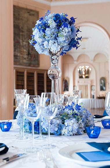Elegant Blue Wedding Lusso Stying Wedding Decor