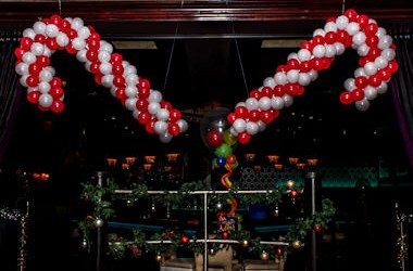 Nationwide christmas party lusso styling for Candy cane balloon sculpture