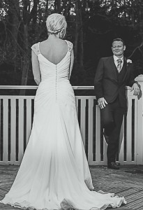 Louise & Mark Spurr Black & White wedding dress www.lussostyling.com